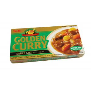 S & B Golden Curry 220g - Made in Japan (Medium Hot)