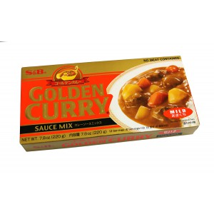 S & B Golden Curry 220g - Made in Japan (Mild)