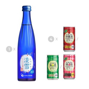 Sake and Fruit Wine Special Offer (Awayuki Sparkling + Purupuru Momosyu/ Ringosyu/ Umesyu x4)