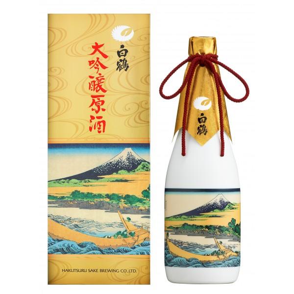 Hakutsuru Daiginjyo Genshu Tago Shore- Thirty-six Views of Mount Fuji by Katsushi Kahokusai (Limited Edition) 720ML